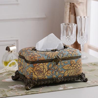 复古创意纸巾盒客厅欧式可爱茶几遥控器多功能收纳家用奢华抽纸盒