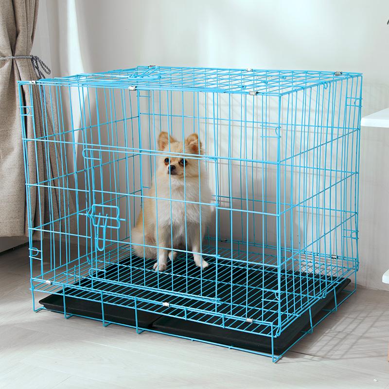 狗笼子室内家用泰迪折叠狗笼带厕所加粗猫笼子中小型犬宠物笼子兔
