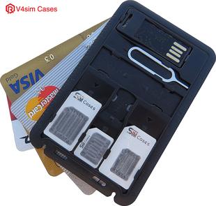 超薄sim卡卡套還原卡盒手機nano卡託卡槽SD卡收納器小卡轉大卡