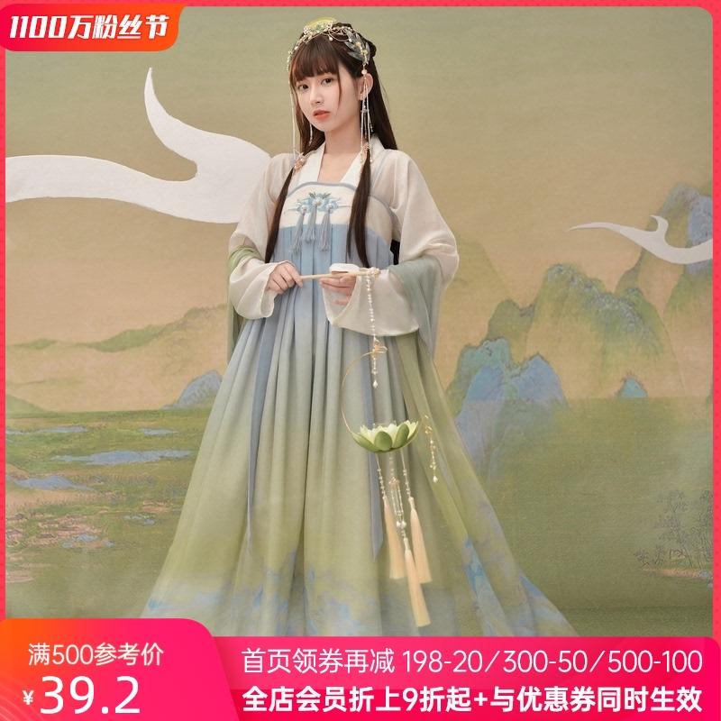 国家宝藏联名原创森女部落汉元素中国风日常连衣裙2020新款夏季女