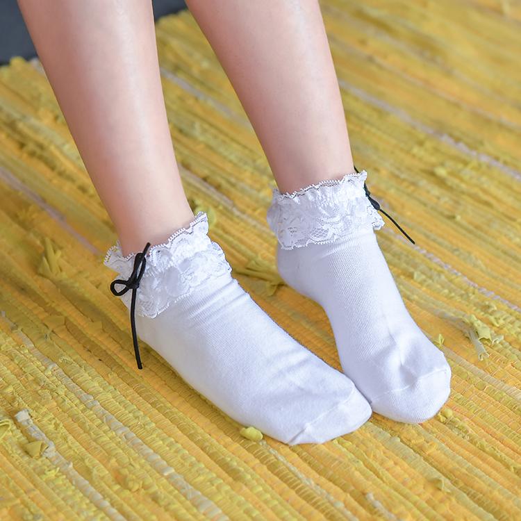 森女部落蕾丝花边短袜女袜船袜低帮短袜公主袜甜美可爱日系女袜子