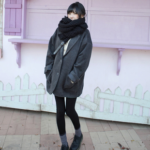 Discounted new winter women s college wind loose plus cotton coat thick woolen coat school uniforms