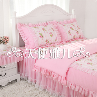 Angel Ya children dream new bedding by three four sets princess pink salsa