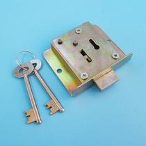 玻璃门锁浴室插销锁单门双开门地插锁开孔办公室免不锈钢小插销锁