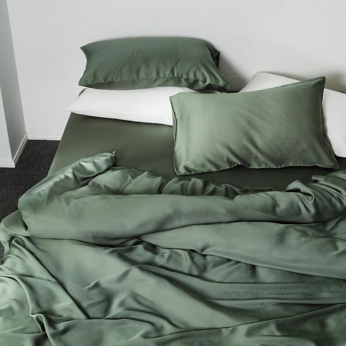 纯色天丝四件套夏季裸睡冰丝床单笠60支欧式丝滑双面天丝床上用品