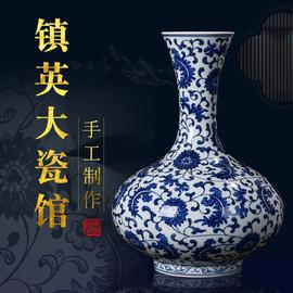 景德镇陶瓷器花瓶仿古手工手绘青花瓷中式古典客厅家居装饰品摆件图片