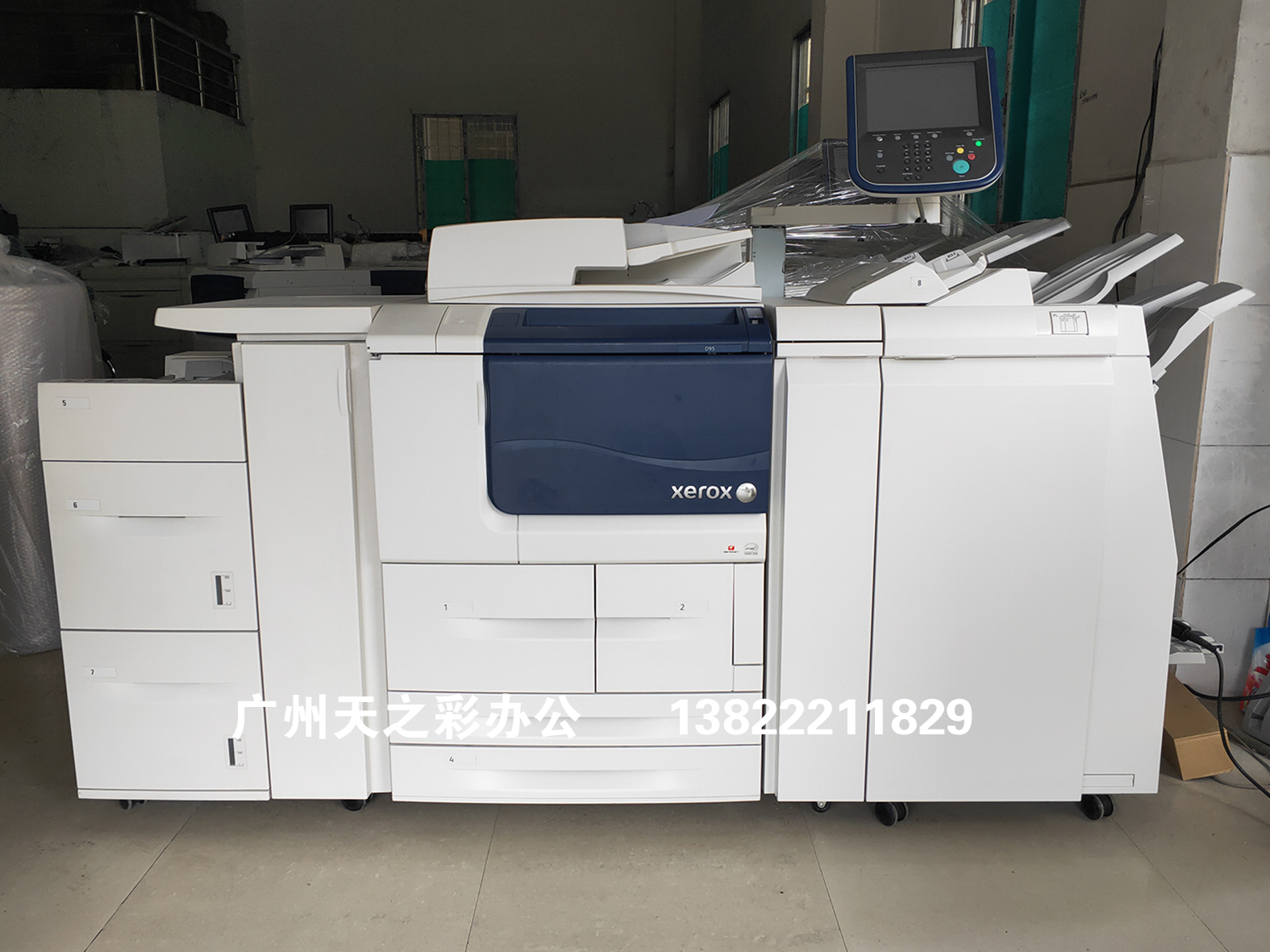 Xerox d95 D110 D125 D136 multifunction black and white high speed digital copier