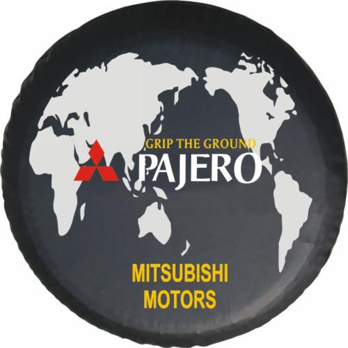 Утолщенные Mitsubishi беговые запасное колесо Обложка черный алмаз Mitsubishi Pajero V73 V71 V32 V33 Cheetah автомобиль покрышки