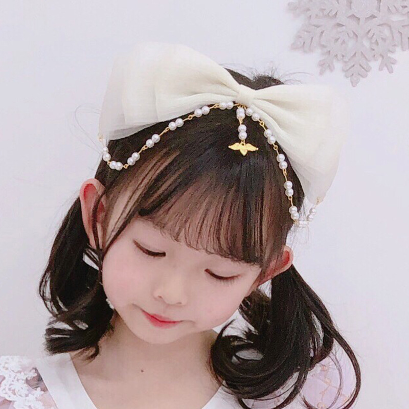 Lolita headdress pearl hair ornament Lolita headband accessories with princess skirt hairpin