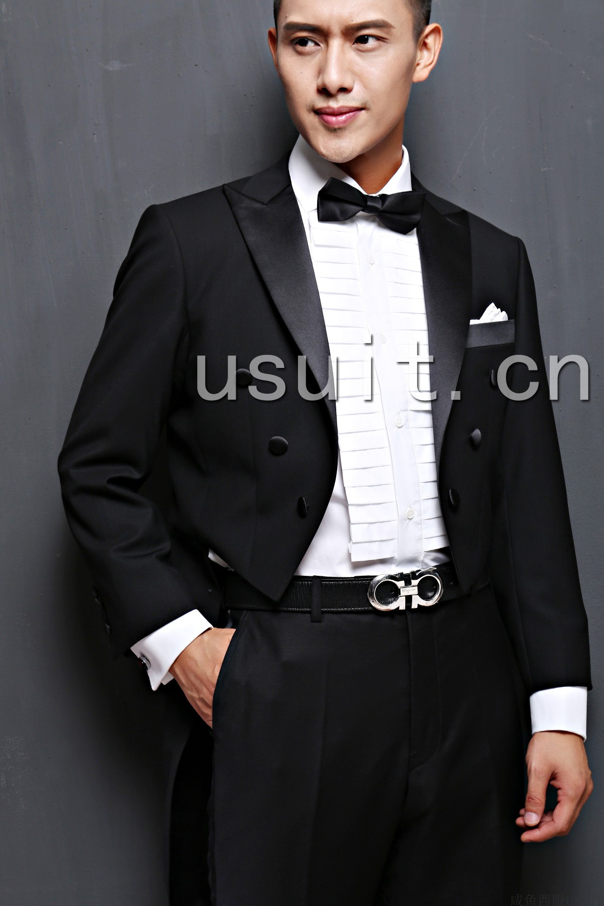Customized mens tuxedo 5-piece wedding party mens tuxedo to undertake work clothes in Beijing