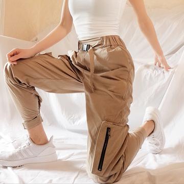 Aemilen显瘦高腰工装裤