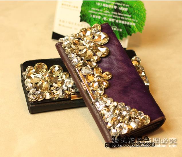 Европа и большой, элитного винтажной моды алмаз mamaoniupi дамы бумажник большой zip вокруг бумажник волна
