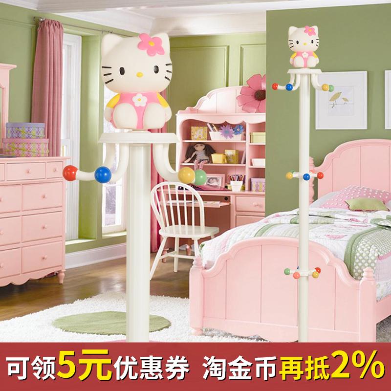 Ребенок вешалка этаж мультики весить одежду полка милый простой современный вращение спальня домой корейский девушка легко