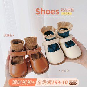 女童浅口公主鞋2021夏季新款小女孩单鞋糖果儿童软底时尚韩版皮鞋