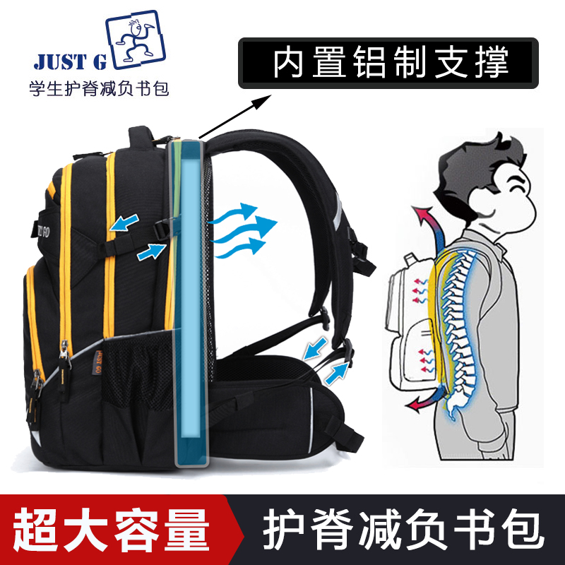 Just go schoolbag for middle school students female backpack for middle school and high school students