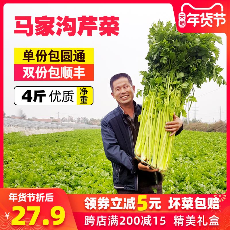 平度马家沟芹菜空心芹菜山东青岛特产大叶黄玻璃脆4斤新鲜蔬菜