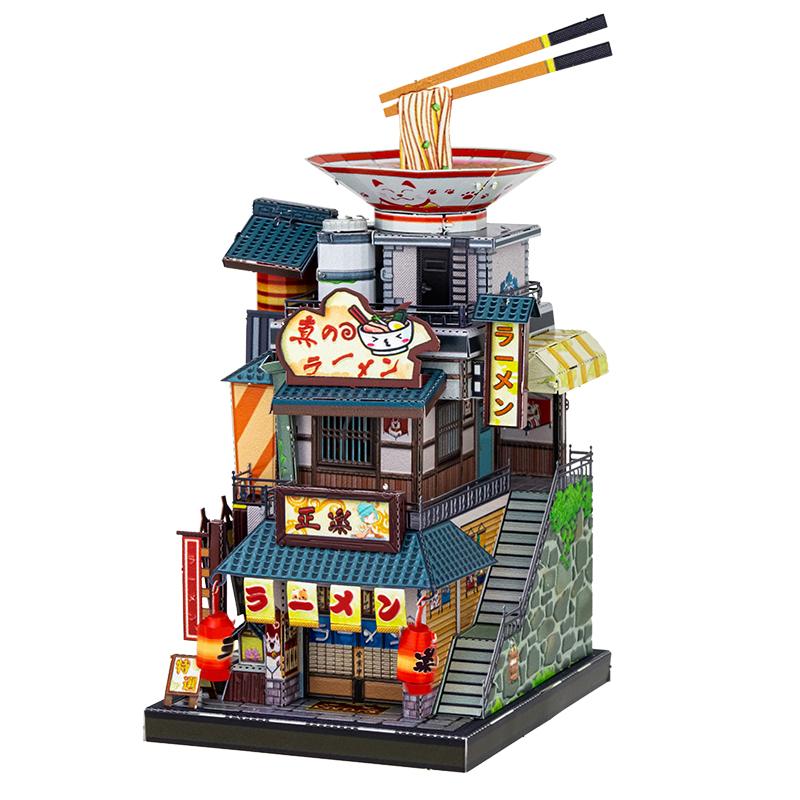 艺模艺游天下和风篇3D立体拼图金属拼装模型建筑diy手工减压玩具