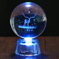 创意鹿蒲公英水晶球摆件设生日礼物送女生闺蜜情侣男友毕业教师节