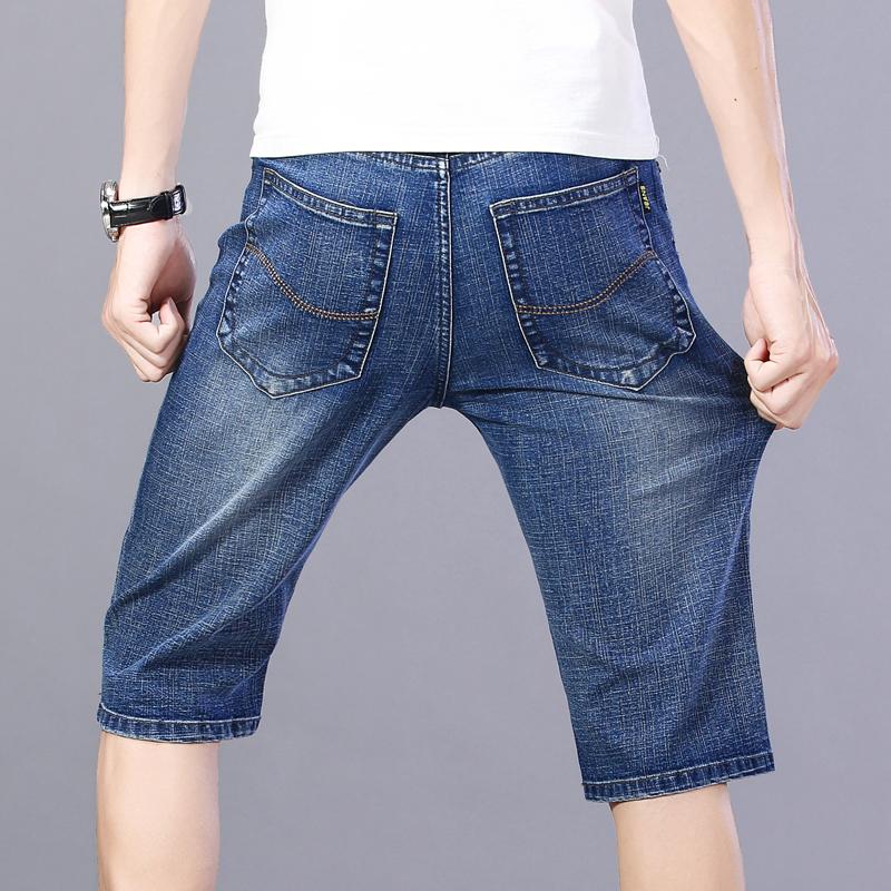2021 summer jeans Capris mens pants loose straight casual shorts P30