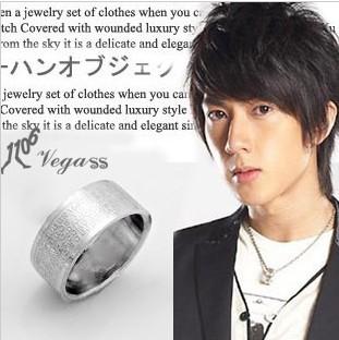 情侣戒指十字架圣经文戒指韩版时尚吴尊男女士钛钢戒指P1