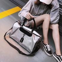 诗蕊短途旅行包女手提韩版旅游小行李袋大容量轻便运动男健身包潮