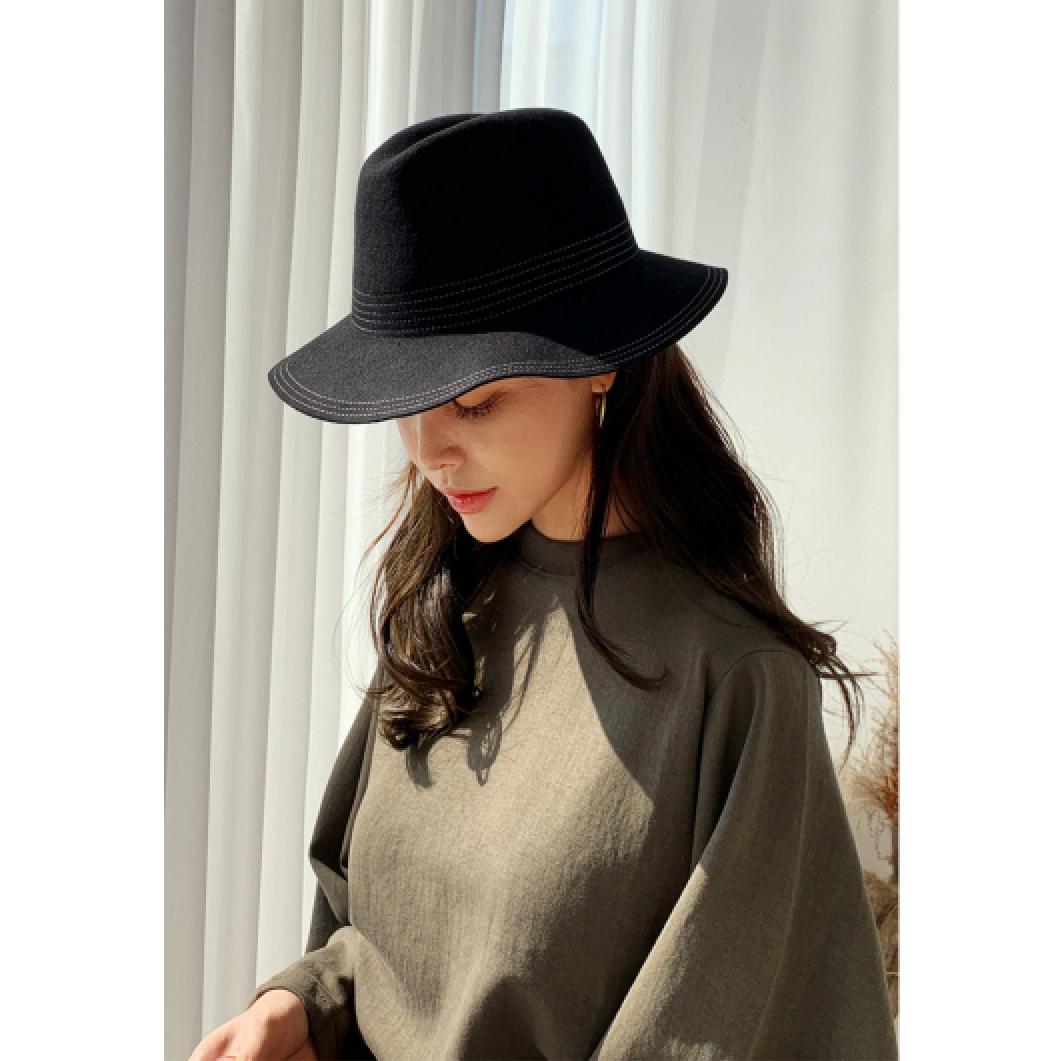 10月新款日本DHOLIC时尚毛呢软边帽全2色-n59239