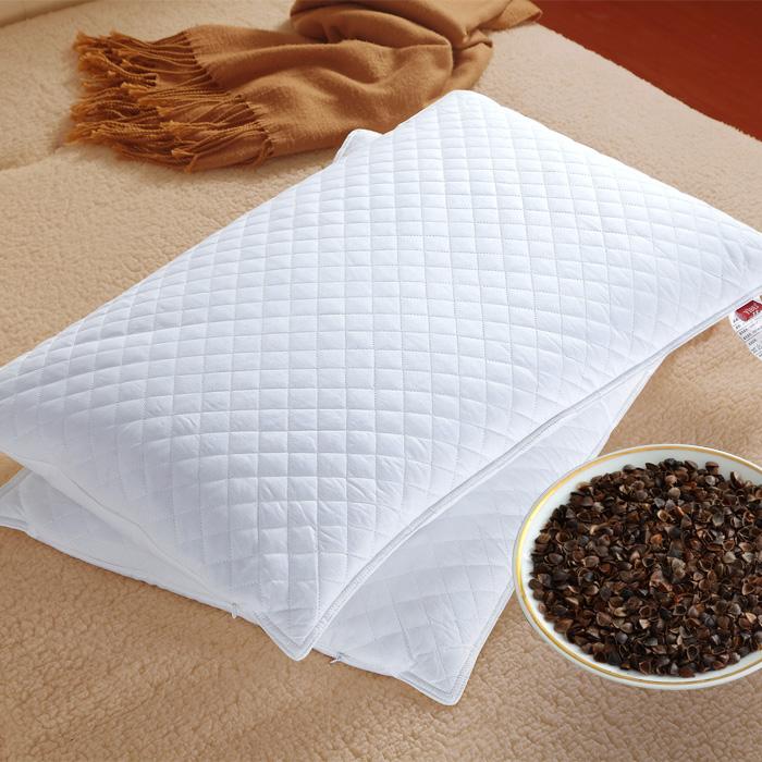 艺被荞麦枕头 单人枕儿童纯荞麦皮枕 枕芯护颈枕全乔麦壳枕头成人
