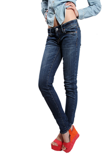 Special European and American big trade Weihuo women waist jeans feet B5F01102