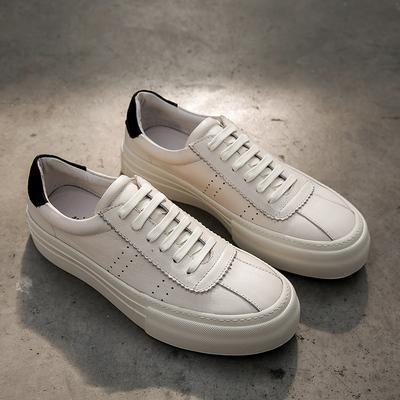 四季小白鞋男士休闲运动鞋滑板鞋做旧真 皮板 鞋小脏鞋W218-1P235