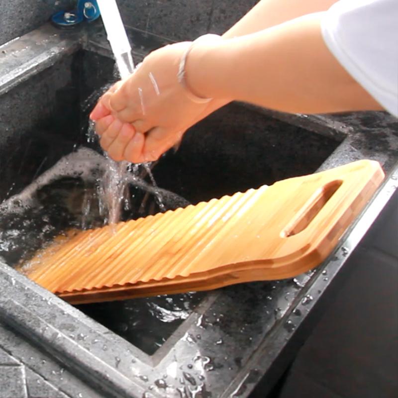 加厚大号搓衣板家用实木防滑小搓衣板戳衣板小号迷你老式洗衣板