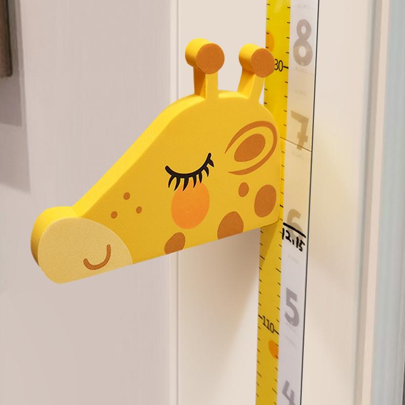 儿童身高墙贴3d立体家用宝宝房量身高贴纸可移除卡通测量仪尺神器 Изображение 1