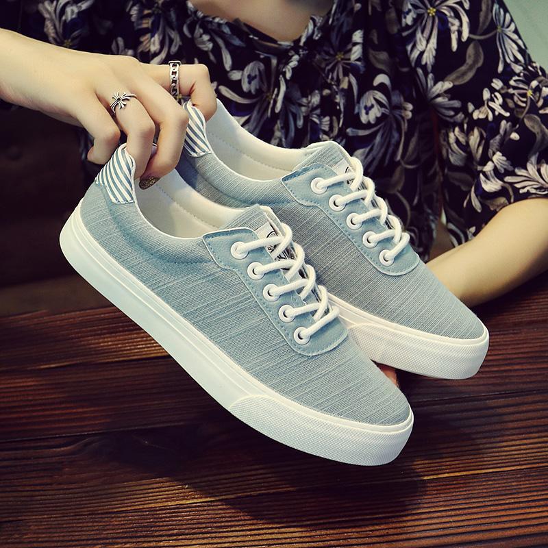 2018春季新款人本帆布鞋小白鞋女生板鞋学生韩版休闲鞋百搭女鞋子