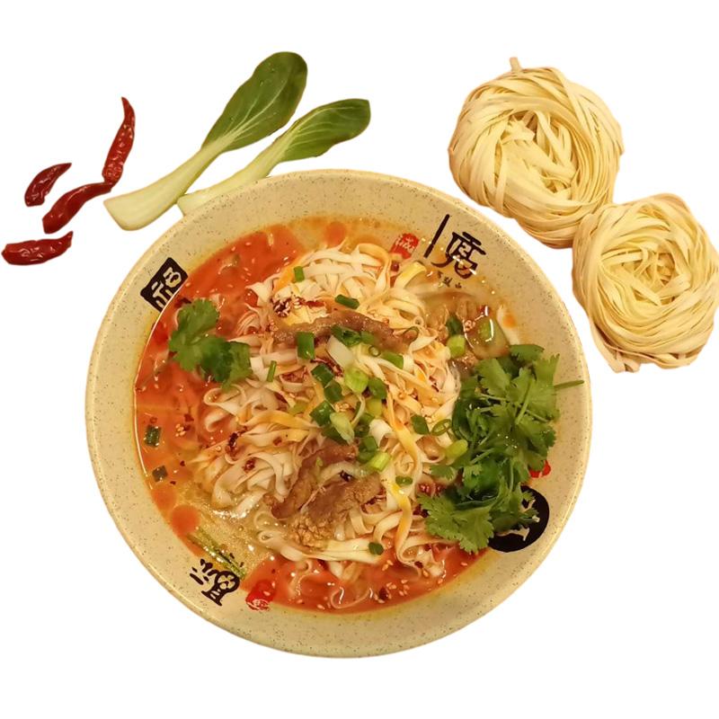 宁波樟村特产手工面切面碱水面盘面炒面汤面非油炸纯手擀主食面条