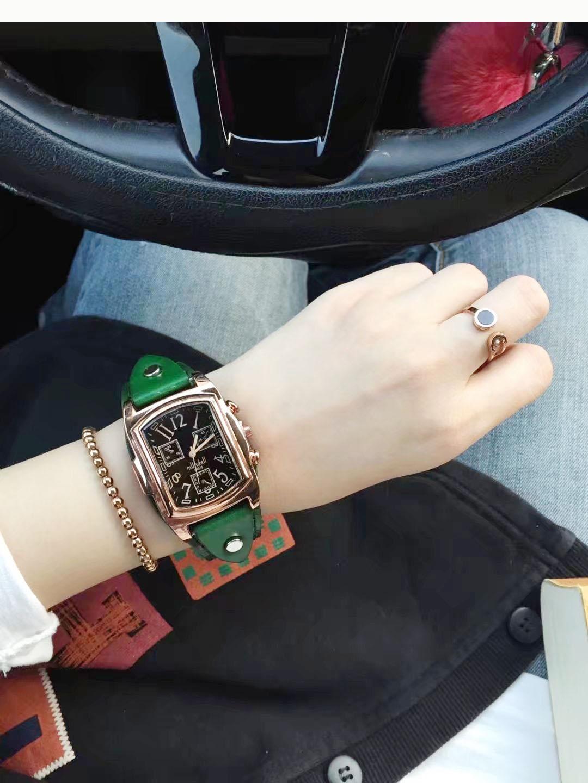 百搭款方形表盘黑盘宽表带国产女款春夏腕表石英手表包邮新款2018