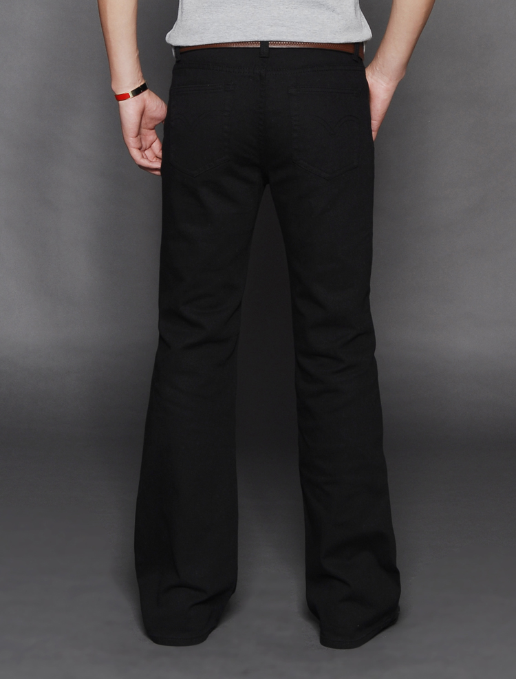 20 mens new spring and autumn high waist loose mens jeans flared pants Korean fashion mens Micro trumpet pants