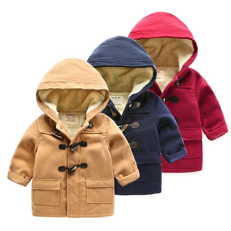 男童棉衣冬装儿童加绒外套男宝宝保暖加厚棉服女童冬季连帽棉衣潮