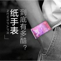 2019新款智能手环男韩版网红简约抖音学生潮流女虫洞概念男士手表