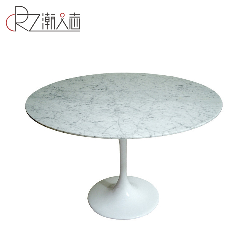 Дизайнер стол простой современный натуральный мрамор обеденный стол круглый обеденный стол тюльпаны обеденный стол Tulip Table