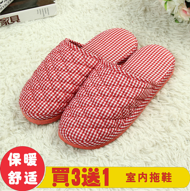 Thin mens and womens daily home visiting guests in spring and autumn and winter couple breathable non slip household floor cloth slippers