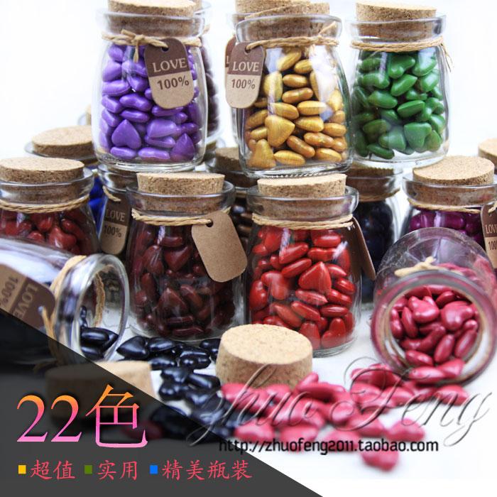 复古火漆印章专用 心形颗粒火漆蜡 实用精美瓶装封蜡 22色可选