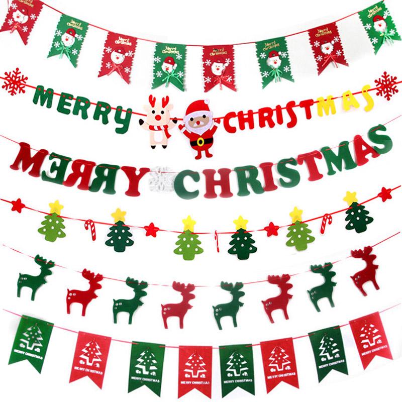 圣诞节装饰品拉旗彩吊旗珠宝店铺面商场挂件吊饰场景布置道具用品