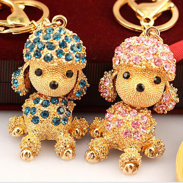 热销103件有赠品吉祥物女可爱包包挂件钥匙链圈水钻