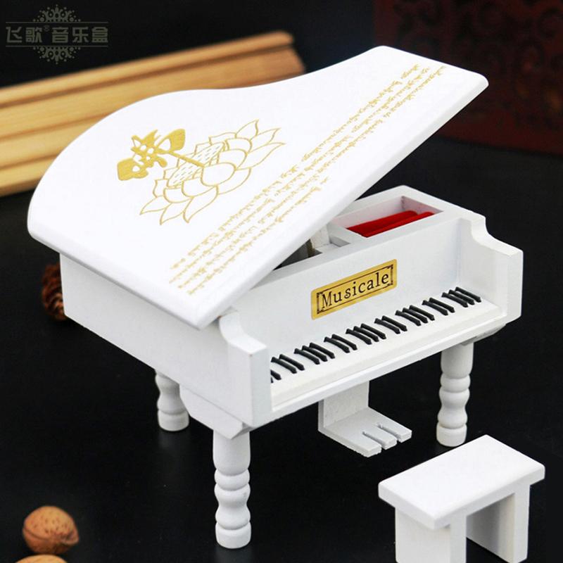 钢琴风水摆设音乐盒 八卦八音盒 乔迁搬家吉祥招财好运摆件大悲咒