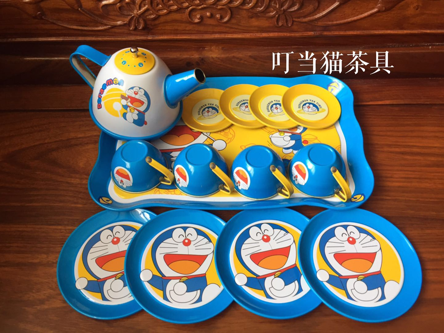 Childrens family toys boys and girls childrens games afternoon tea formal tinplate imitation Teapot Set