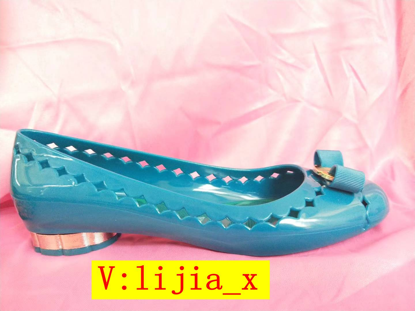 Miss.MN New round bow hollow flat ballet shoes womens soft plastic jelly shoes sandals