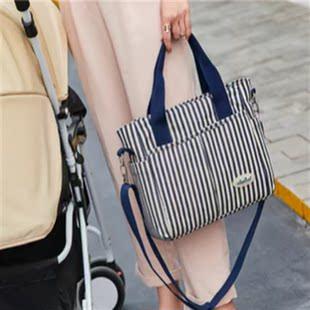 时尚妈咪包小号斜跨妈妈包母婴包多功能大容量手提手提包外出包