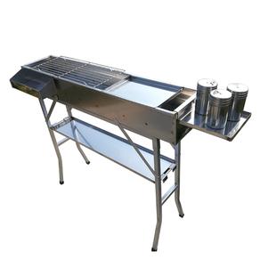 不鏽鋼燒烤爐木炭燒烤架木炭便攜摺疊耐用羊肉串架子家用户外烤箱