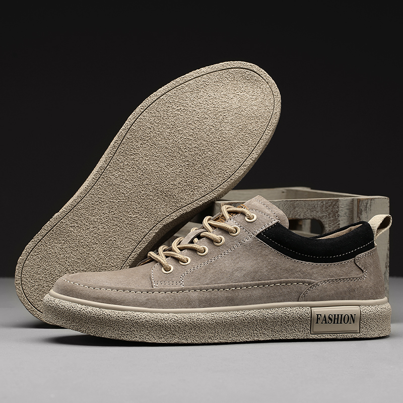 Shoes mens 2021 new trend leisure and versatile autumn mens shoes Korean chic mens board shoes personalized leather