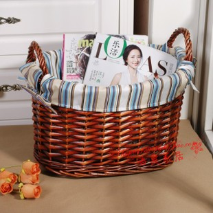 Willow storage baskets woven rattan laundry basket garden Laundry basket storage baskets storage box