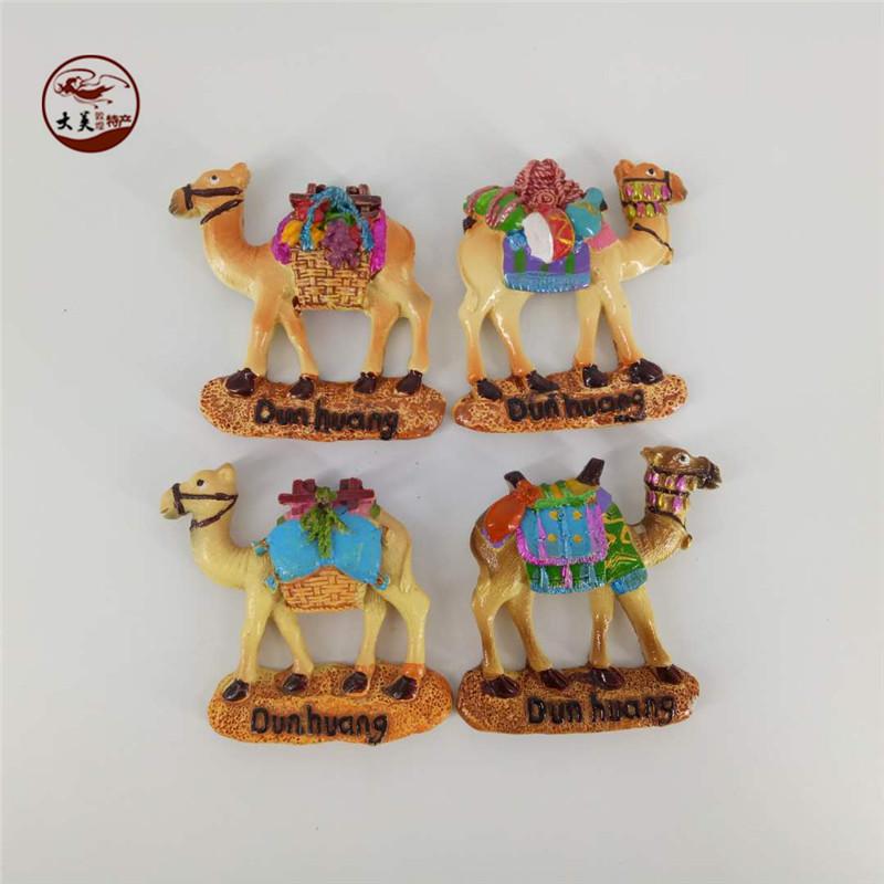 敦煌骆驼冰箱贴复古磁性莫高窟文化创意 旅游纪念品树脂居家礼品